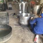 chế tạo nồi nấu cơm canh bằng hơi - nồi hơi đốt than